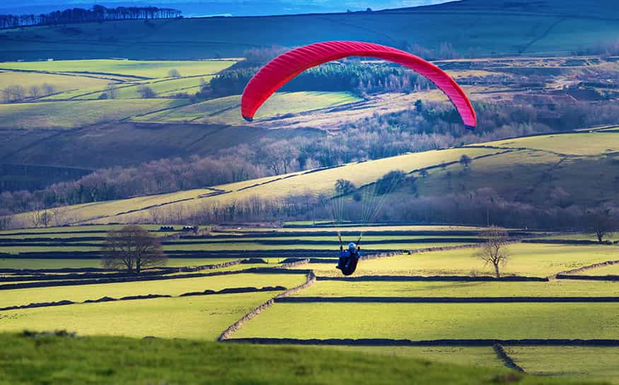 Paragliders at Bretton