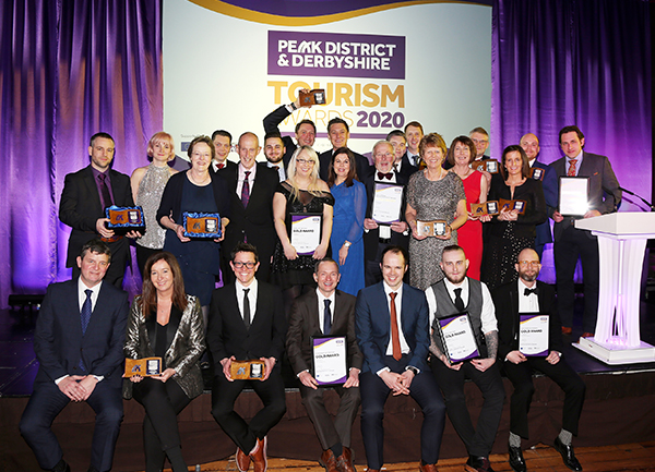 Gold award winners at the 2020 Peak District & Derbyshire Tourism Awards