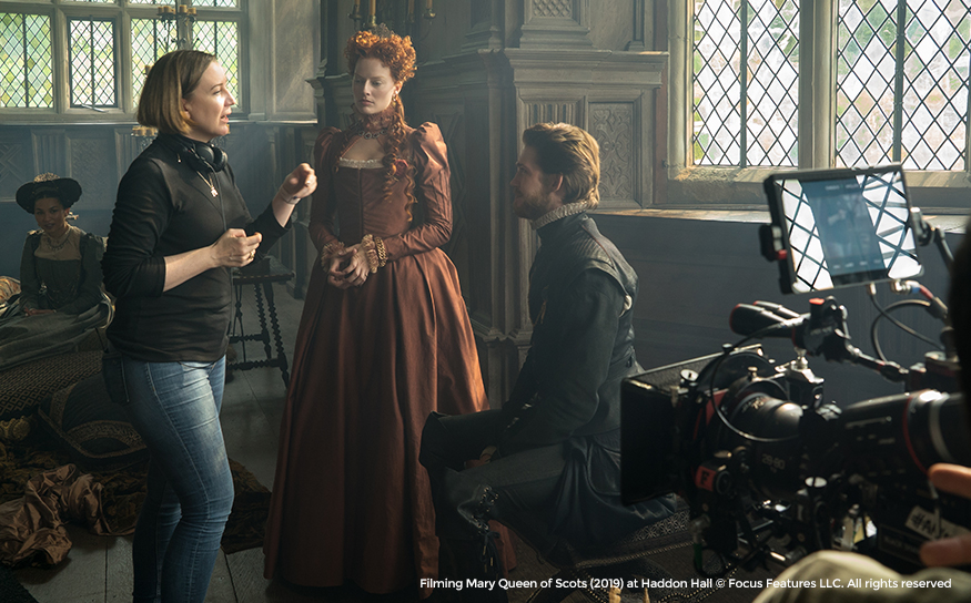 Filming Mary Queen of Scots (2019) at Haddon Hall © Focus Features LLC. All rights reserved