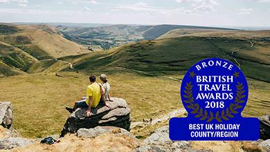 The Peak District and Derbyshire won Bronze in the British Travel Awards 2018