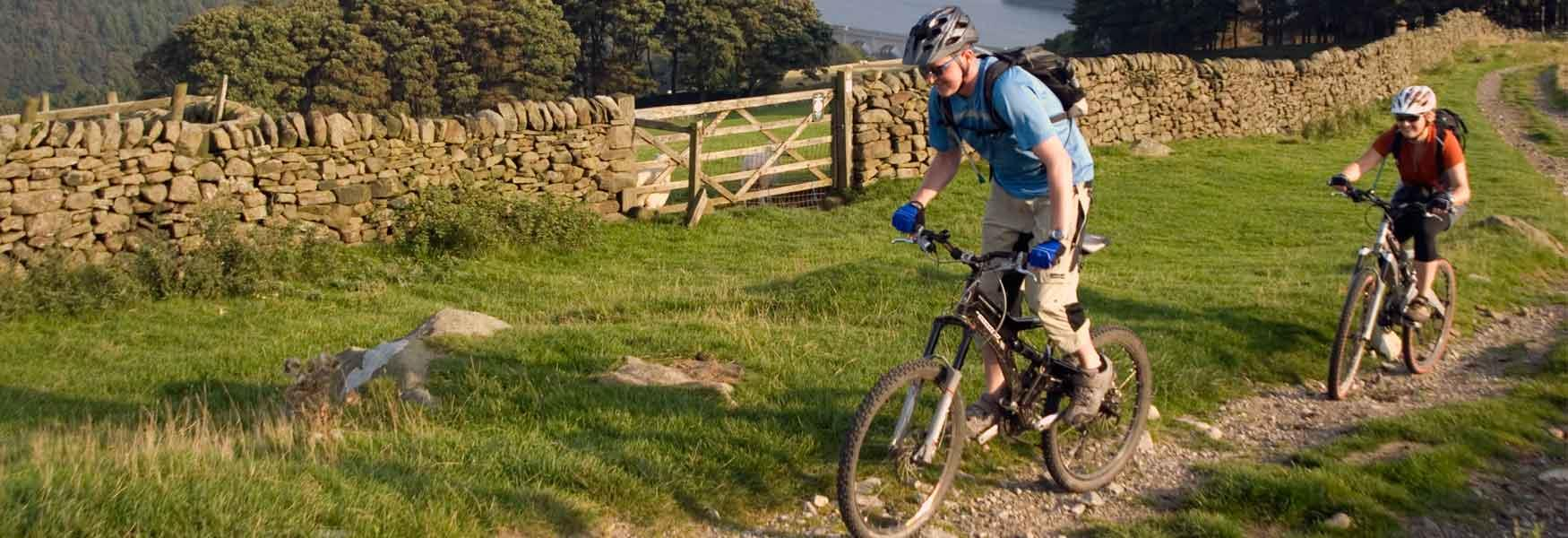 Take a challenging mountain bike route