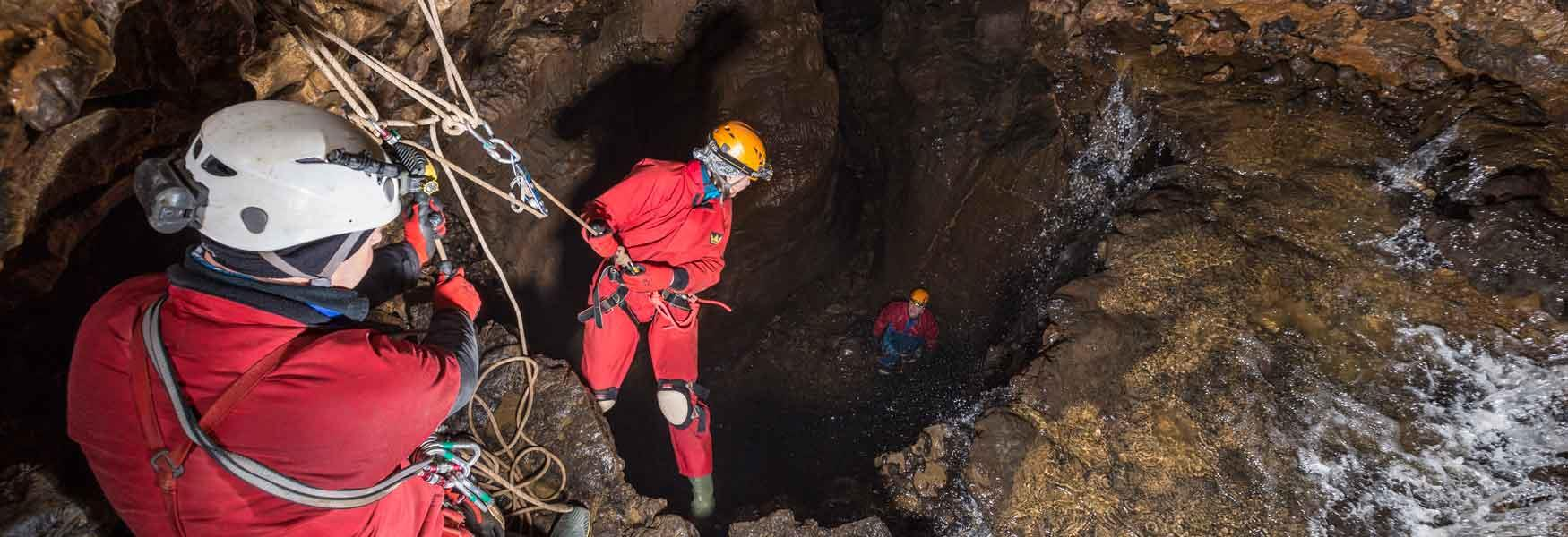 Go caving with expert instructors