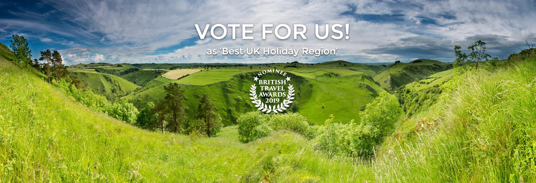 Click to vote for the Peak District & Derbyshire