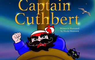 Captain Cuthbert and Scat the cat book launch at GlossopBookFest