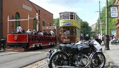 Crich Tramway Village Classic Motorcycle Day