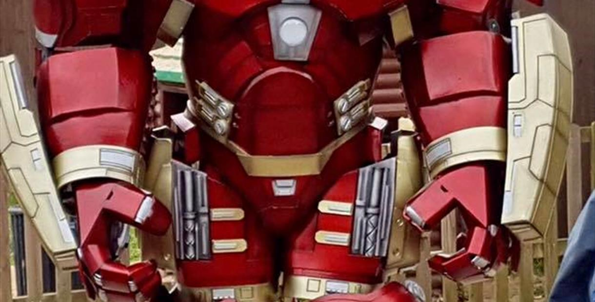 Hulkbuster on Fathers Day at Matlock Farm Park