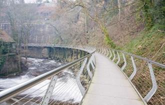 Millenium Walkway at New Mills