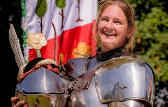 Alix van Ziji at the Brand Medieval Joust