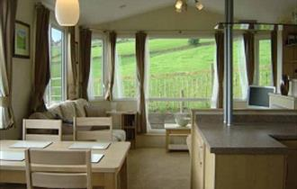 Lounge, Shaw Farm Caravans, Peak District