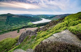 Ladybower Reservoir from Bamford Edge
