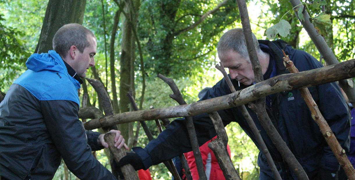 Bushcraft experience at Lea Green Centre