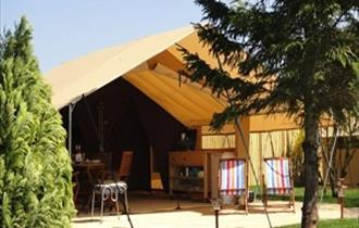 Glamping in a Safari Tent at Teversal CCC Site
