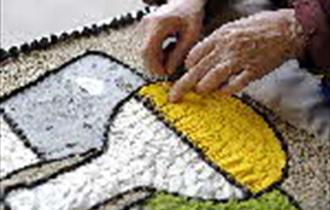 Etwall's well dressings under construction
