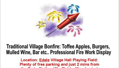 Edale Bonfire and Fireworks Event