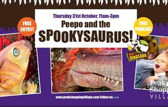 The Spookysaurus at Peak Shopping Village