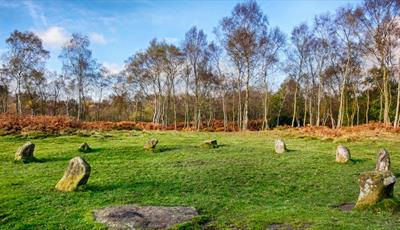 Guided walk, Stanton Moor and nine ladies stone circle from Rowsley
