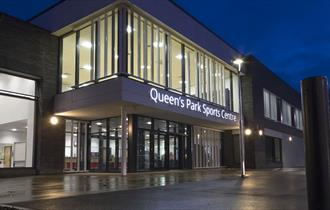 Exterior of Queen's Park Sports Centre