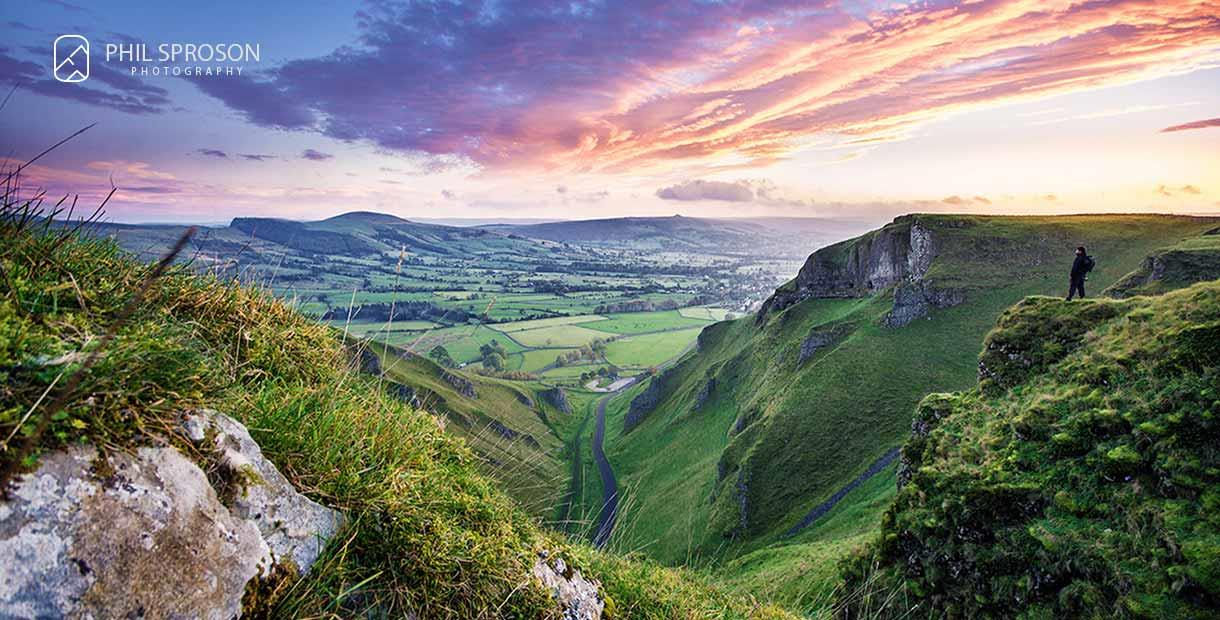 Winnats Pass Sunrise by Phil Sproson Photography