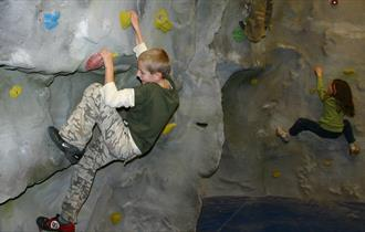 Indoor climbing at White Hall Centre