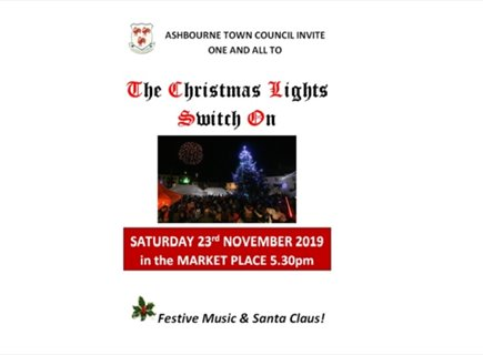 Ashbourne Christmas Lights Switch On