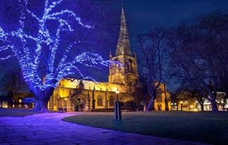Chesterfield Market and Christmas Lights Switch On