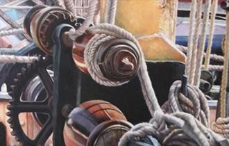 Thames Barge Deck Acrylics by Denise Cliffen