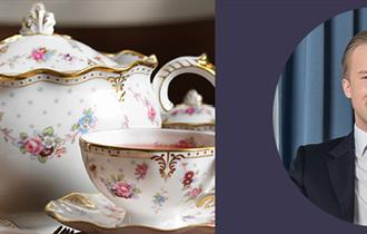 Join Royal Crown Derby with etiquette expert William Hanson for afternoon tea.