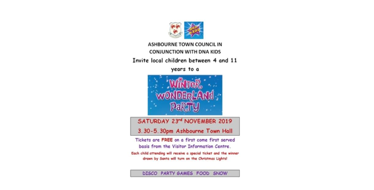 Winter Wonderland Children's Party at Ashbourne Town Hall